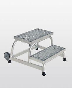 Guenzburger-Aluminium-Arbeitspodest-Montagetritt-Podest-Stufen-Stahl-Gitterrost