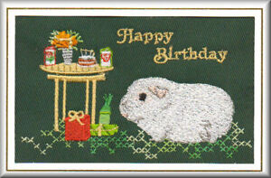 Guinea-Pig-Cavy-Birthday-Card-Embroidered-by-Dogmania