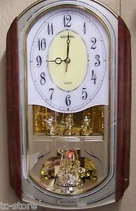 Guten-Quartz-Oblong-Rotating-Musical-Melody-Pendulum-Wall-Clock-Youngtown