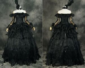 h 331 s m l xl xxl black victorian gothic cosplay kleid. Black Bedroom Furniture Sets. Home Design Ideas