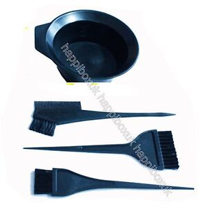 HAIR-DYE-KIT-SET-Colour-Bleach-Tint-3-Brushes-Bowl