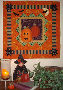 Free Halloween Cat Applique Pattern With Pressing Sheet