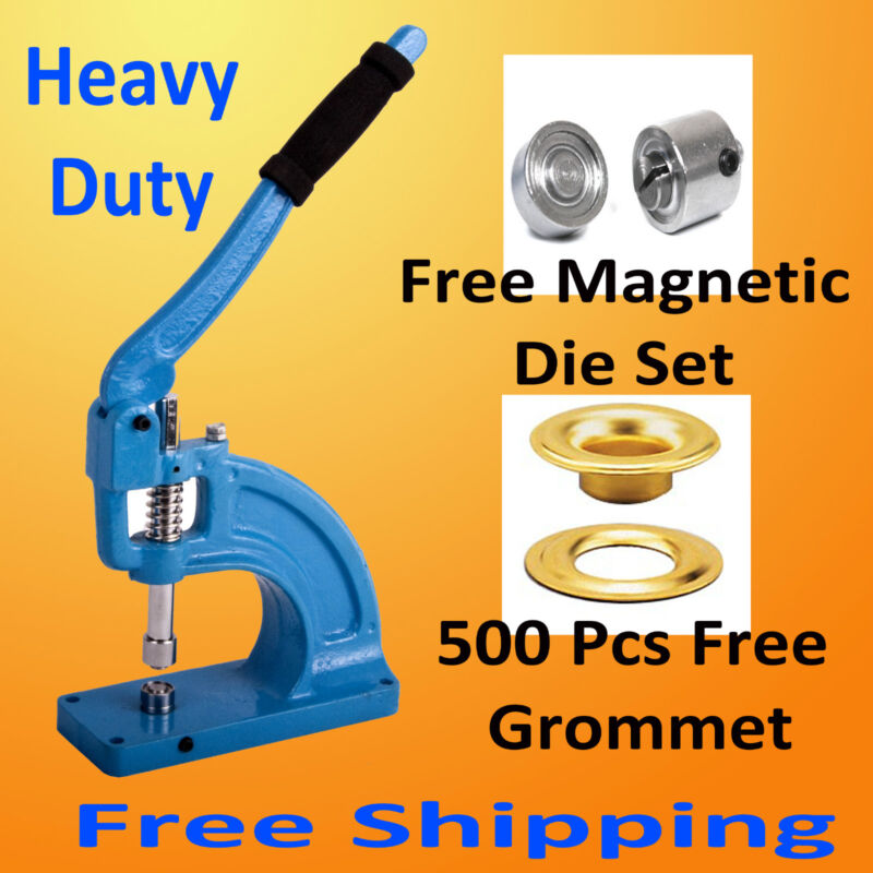 Hand Press Portable Grommet Machine Hole Punch Tool 500