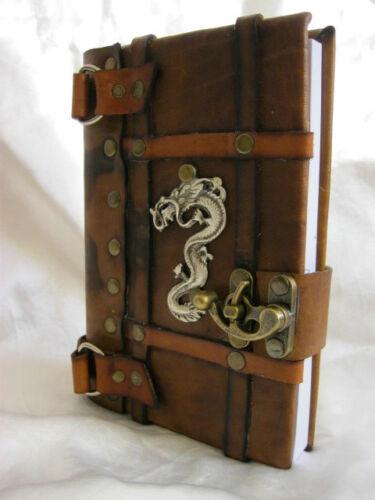 HANDMADE LUXURY LEATHER JOURNAL NOTEBOOK ''DRAGON'' EMBLEM in Books, Accessories, Blank Diaries & Journals | eBay