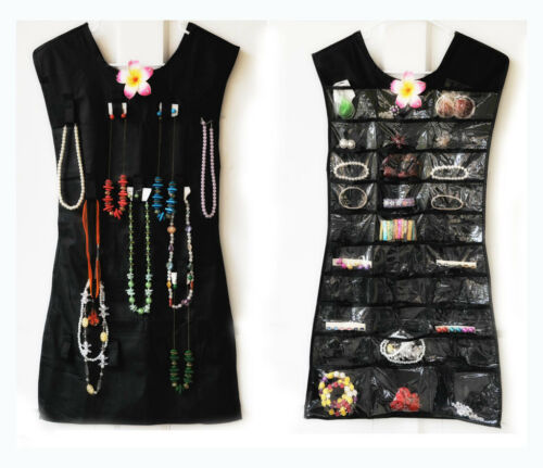 HANGING ORGANIZER JEWELRY, MAKEUP, TOILETRIES - BLACK OR PINK - AS SEEN ON TV in Jewelry & Watches, Jewelry Boxes & Organizers, Jewelry Holders & Organizers | eBay