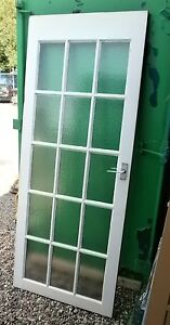 hardwood glazed glass panel exterior door 15 panel frosted