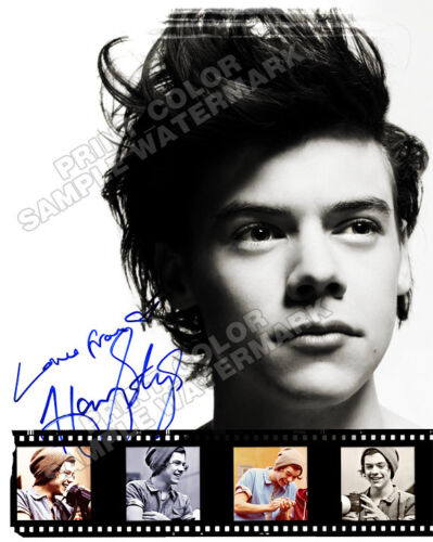 "HARRY STYLES One Direction 8""x10"" - AUTOGRAPHED PHOTO PROMO SHEET RP! Very Cool in Entertainment Memorabilia, Autographs-Reprints, Music 