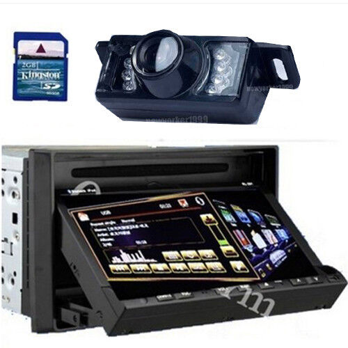 """HD 3D Pip 7""""Touch Screen Double DIN in Dash Car DVD Player GPS Navigation Camera"""