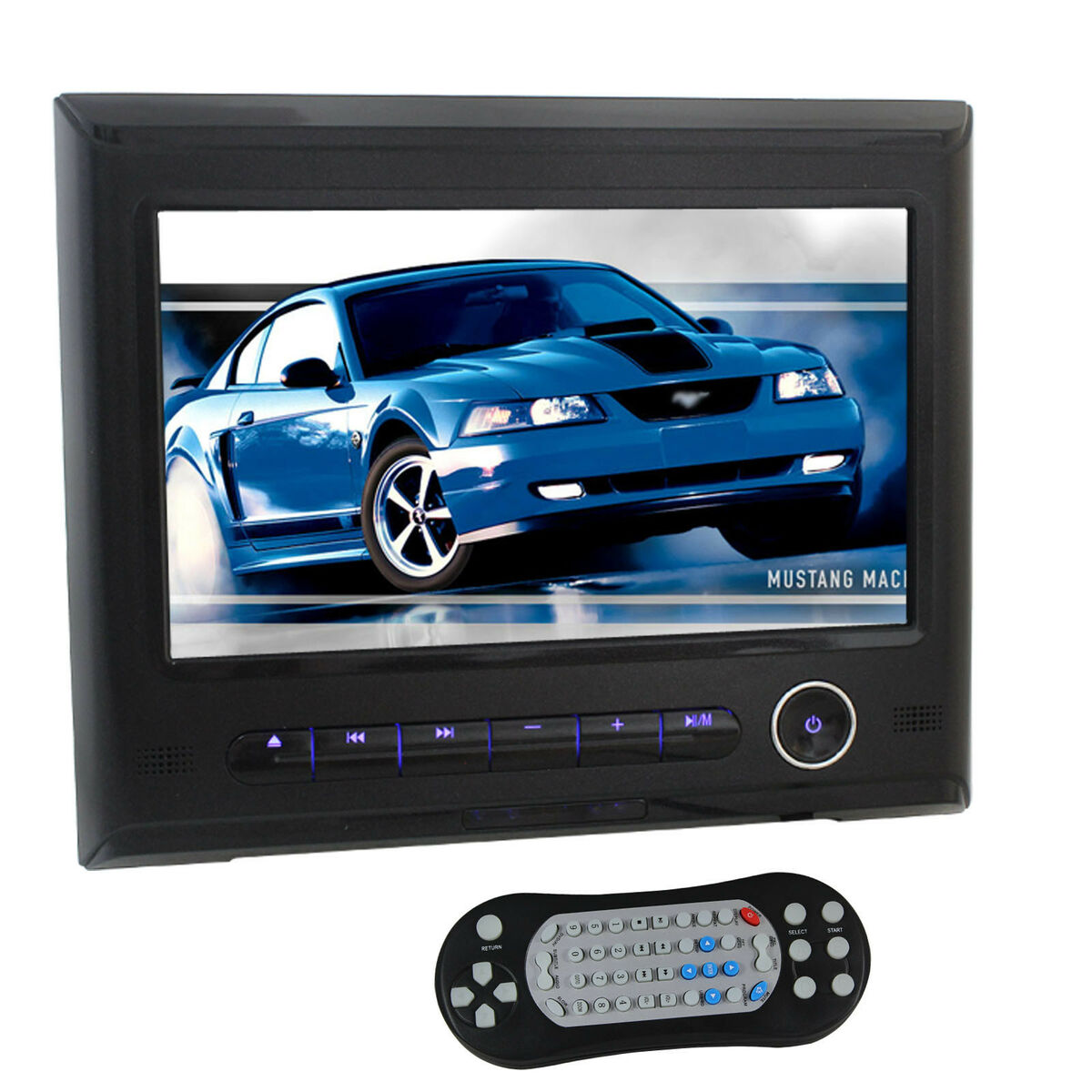 HD 9''TFT LCD Car Headrest Monitor Video DVD SD USB Player in Car Fast Shipping