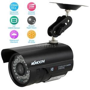 HD1200TVL-CCTV-Uberwachungskamera-Aussen-Wasserdicht-IR-Night-Vision-Schwarz-U2M4