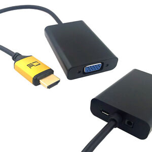 Hdmi to vga output projector monitor adapter with micro for Micro hdmi projector