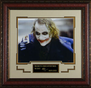 HEATH LEDGER as The Joker Laser Signed Framed Photo - Dark Knight in Entertainment Memorabilia, Autographs-Reprints, Movies | eBay