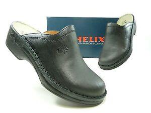 helix schuhe herrenschuhe pantoletten clogs schwarz div gr en ebay. Black Bedroom Furniture Sets. Home Design Ideas