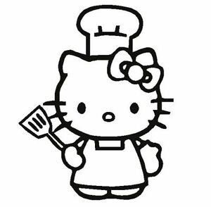 Hello Kitty Cook Apron Chef Hat Decal Sticker You Pick