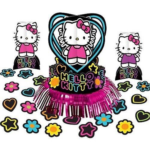 Hello Kitty Neon Tween Table Decorating Kit Centerpiece Birthday