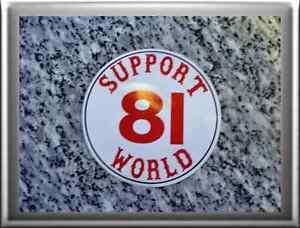 hells angels support 81 sticker aufkleber support 81 world a04 neu ebay. Black Bedroom Furniture Sets. Home Design Ideas