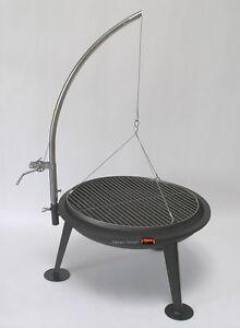 hesani schwenkgrill 360 1 kurbel edelstahl grillrost grill feuerschale dreibein ebay. Black Bedroom Furniture Sets. Home Design Ideas