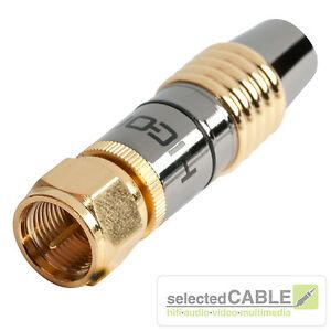 hicon hi fm08 digital tv kabel satellit f stecker 75ohm hdtv high end hi fm08 ebay. Black Bedroom Furniture Sets. Home Design Ideas