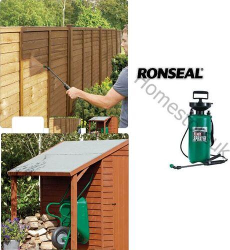 ronseal shed fence pressure pump sprayer paint gun spray c00553. Black Bedroom Furniture Sets. Home Design Ideas