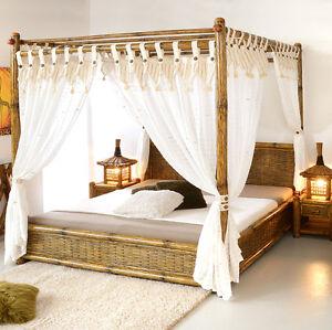 Himmelbett 200x200 tioman aus bambus holzbett designerbett for Bettrahmen 200x200