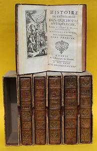 HISTOIRE-DE-L-ADMIRABLE-DON-QUICHOTTE-6-BANDE-40-KUPFERSTICHE-1732