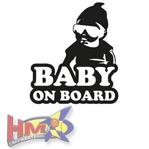 hm baby on board mini rapper aufkleber auto kind. Black Bedroom Furniture Sets. Home Design Ideas