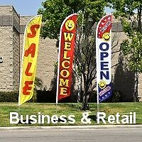 business and retail feather flags