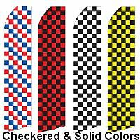 checkered flags and solid colors