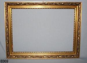 holz bilderrahmen gold stuck rahmen 59x78cm jugendstil f r spiegel oder bild alt ebay. Black Bedroom Furniture Sets. Home Design Ideas