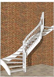holztreppe treppe einfach selbst bauen 2 4 gewendelt bauplan pl ne anleitung ebay. Black Bedroom Furniture Sets. Home Design Ideas