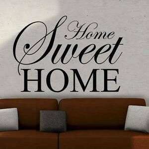 Home sweet home wall art sticker quote large decor ebay for Deco home sweet home