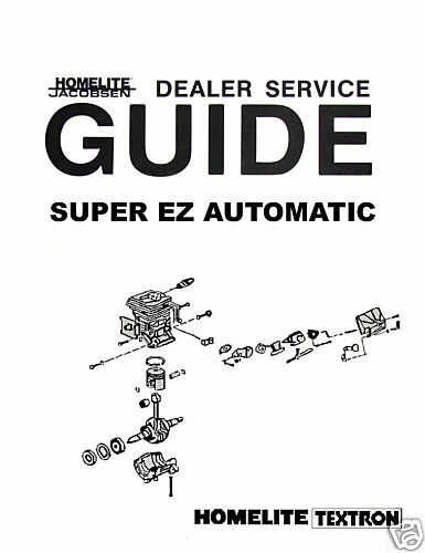 HOMELITE Super EZ Auto OWNERS MANUAL/GUIDE/LIST PACKAGE