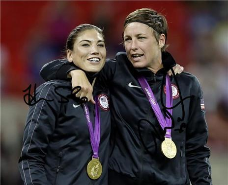 HOPE SOLO ABBY WAMBACH DUAL SIGNED PHOTO 8X10 RP AUTOGRAPHED 2012 OLYMPIC GOLD in Sports Mem, Cards & Fan Shop, Autographs-Reprints | eBay