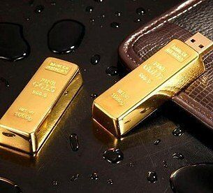 Hot 8GB Gold Bar New USB Flash Memory Pen Drive Stick