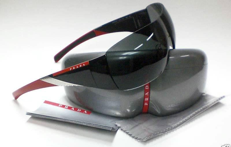 *HOT* Authentic PRADA Designer Mens Womens Sunglasses Black Red SPS 07H PS 07HS