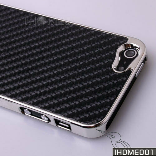 HOT Deluxe Black Carbon Fiber Clip On Hard Back Case Cover For New iPhone 5 5G in Cell Phones & Accessories, Cell Phone Accessories, Cases, Covers & Skins | eBay