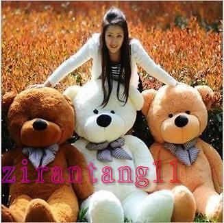 HOT! GIANT 80 BIG PLUSH TEDDY BEAR HUGE SOFT 100% COTTON TOY*three color in Dolls & Bears, Bears, Other | eBay