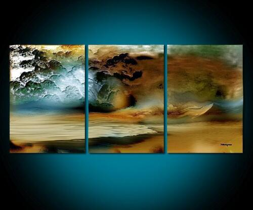 HOT SALE 3PC thunderstorm MODERN ABSTRACT HUGE WALL ART OIL PAINTING ON CANVAS in Art, Wholesale Lots, Paintings | eBay