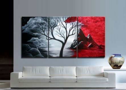 HOT~ SALE Modern Abstract Huge Art Oil Painting Canvas Large Tree+ Free gift in Art, Art from Dealers & Resellers, Paintings | eBay