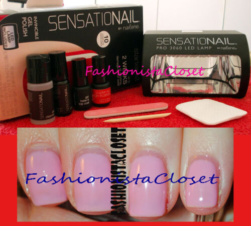 HOT! SENSATIONAIL GEL NAIL POLISH LED LAMP STARTER KIT - PINK CHIFFON in Health & Beauty, Nail Care & Polish, Manicure Kits | eBay