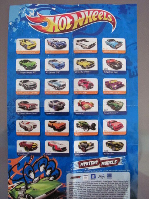 Hot Wheels 2012 Mystery Cars Check List On Popscreen
