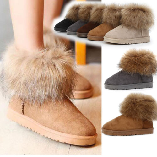 HOT Womens Girl Winter Warm Faux Fur Ankle Snow Boots Shoes Soft Sole 4 Colors in Clothing, Shoes & Accessories, Women's Shoes, Boots | eBay