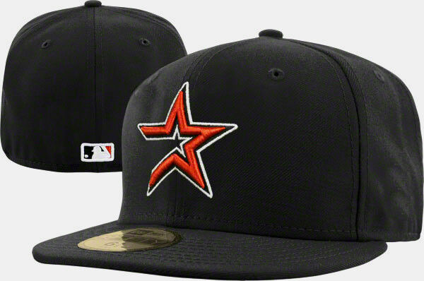 HOUSTON ASTROS MLB BLACK ON FIELD NEW ERA 59FIFTY FITTED HAT CAP Sz ... ed75c0eb329e