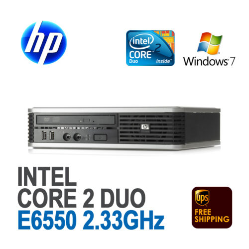 HP DC7800 Ultra-Slim Desktop USFF PC Intel Core 2 Duo E6550 2.33/2G/160G/RW/Win7 in Computers/Tablets & Networking, Desktops & All-In-Ones, PC Desktops & All-In-Ones | eBay