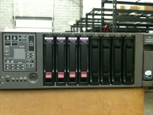 HP ProLiant DL380 G5 Server 2x 3.0GHz Dual-Core, 12GB, 4x 73GB SAS in Computers/Tablets & Networking, Enterprise Networking, Servers, Servers, Clients & Terminals | eBay