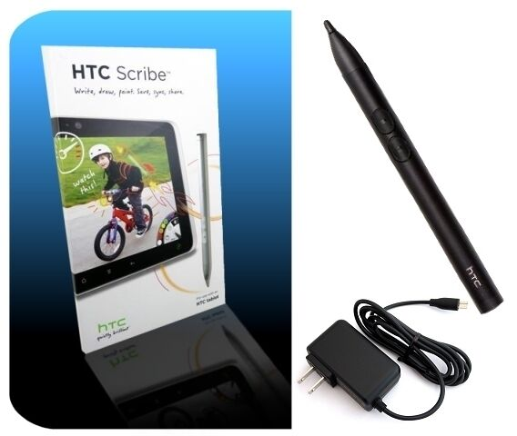 HTC Stylus Scribe Digital Pen Charger for Flyer EVO View 4G Jetstream Tablets