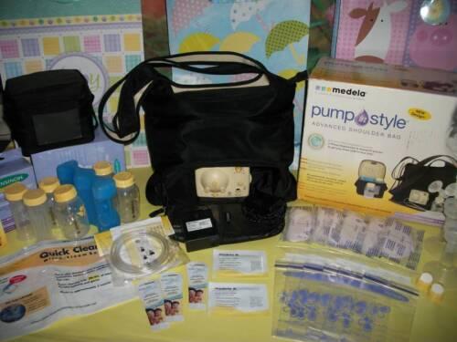 HUGE LOT♥MINT♥Medela ADVANCED breast pump shoulder bag ♥WOW♥ NEW SEALED SUPPLIES in Baby, Feeding, Breastpumps | eBay