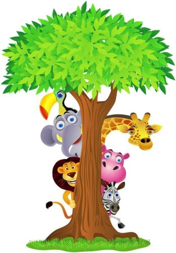 HUGE SAFARI ANIMALS TREE Decal Removable WALL STICKER Home Decor Art Nursery in Home & Garden, Home Decor, Decals, Stickers & Vinyl Art | eBay