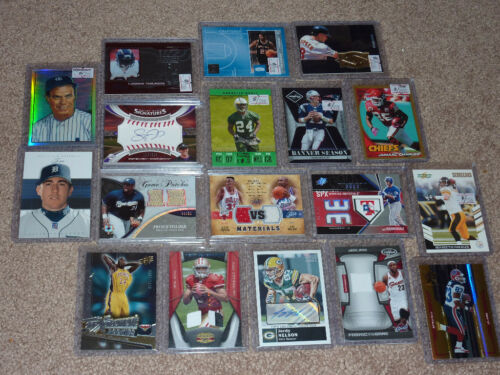 HUGE SPORTS CARD LOT AUTO RC JERSEY NO COMMONS MANNING JETER RODGERS LEBRON in Sports Mem, Cards & Fan Shop, Cards, Football | eBay
