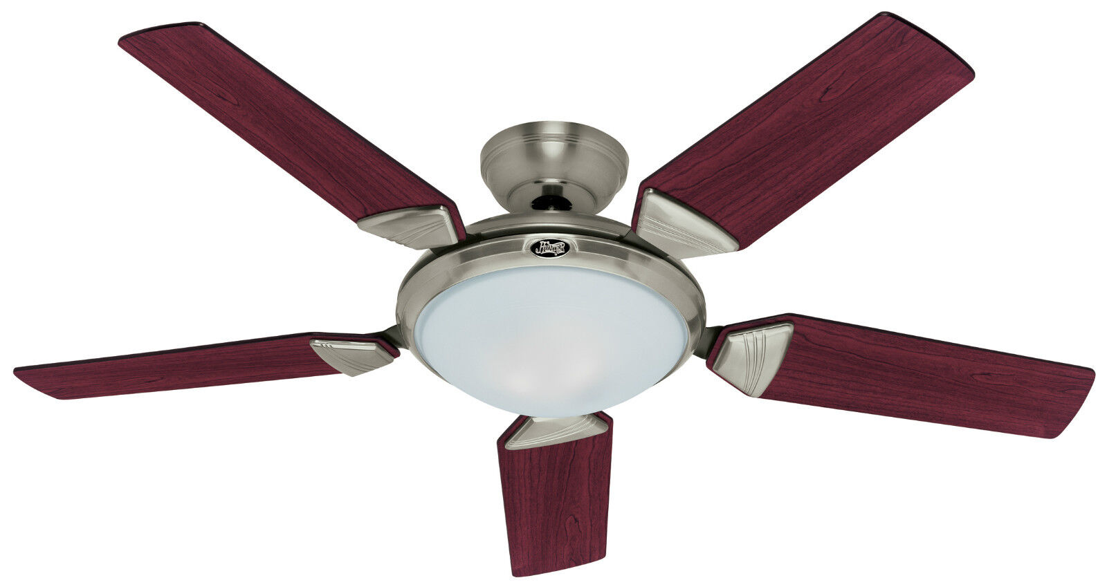 "... 56"" Contemporary Brushed Nickel Remote Ceiling Fan w/ Light HR 20171"